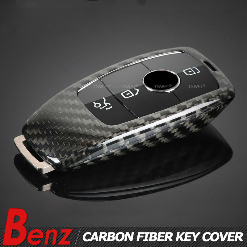 New Genuine Carbon Fiber Car Auto Remote Flip Key Case Cover Shell bag For Mercedes benz 2017 new E class w213 car-styling 2016 new arrival key replacement for mercedes benz ak500 key programmer external hdd 320g free shipping