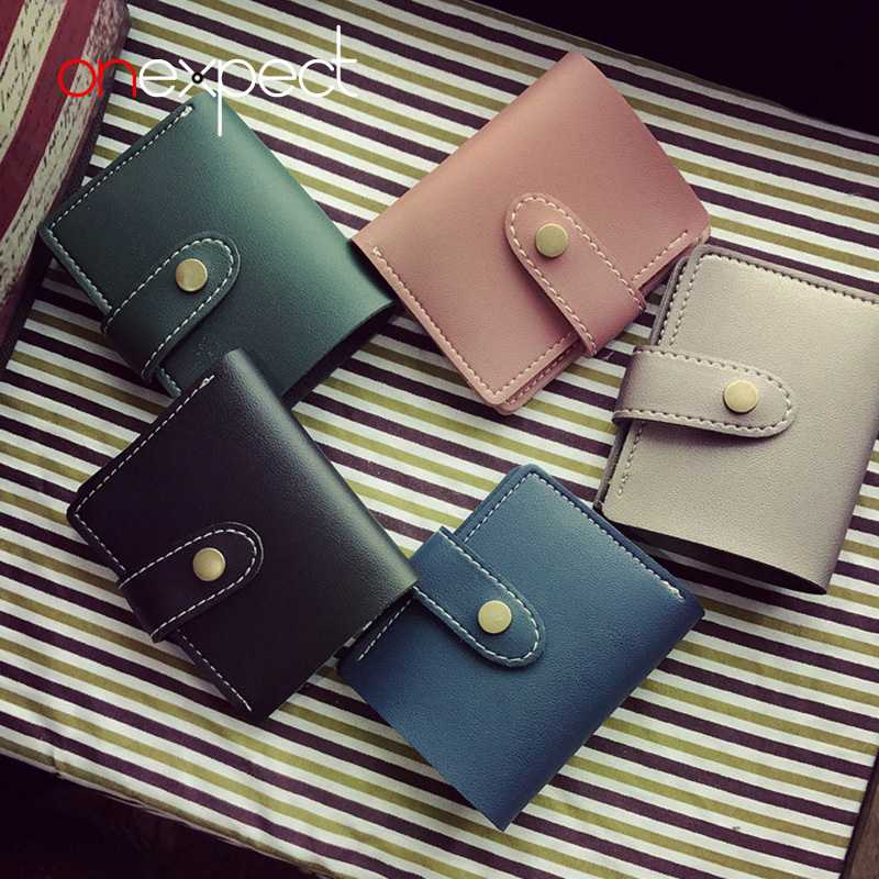 onexpect PU Leather Women Short Wallet Designer Slim Ladies Fashion Small Wallet Coin Purse Female Card Wallet Purses Money Bag