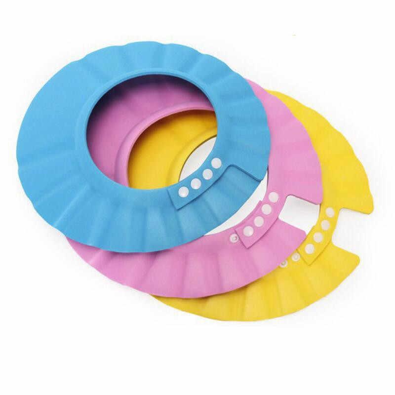 MrY champú ducha baño Baño proteger gorra suave sombrero para el lavado del bebé protector del pelo Bebes niños gorro de ducha de baño sombrero los niños