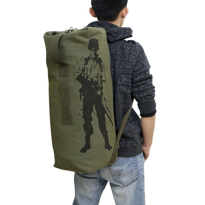 3 ფერი ახალი მოდის ტილო მყარი შემთხვევითი ჩანთა კაცი სამხედრო ზურგჩანთის ტომარა მამაკაცის ზურგჩანთის 15% ფასდაკლება X111