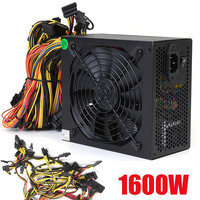 1600W Mining Power Supply For 6 GPU Eth Rig Ethereum Crypto Coin Miner Antminer High Quality