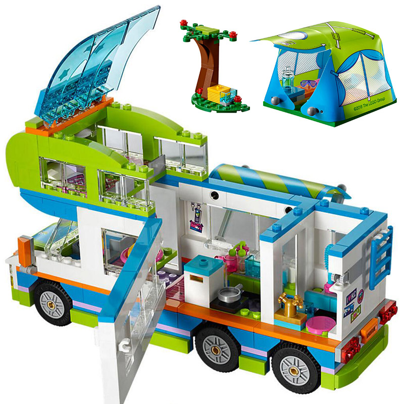 Bela 10858 New Girl Toys 546Pcs Girls Series Mia's Camper Van Set 41339 Building Blocks Bricks Funny Compatible With Legoings 2017 new aiboully 10170 friends series girls housework time panorama minis set building blocks girl toys compatible with 3185