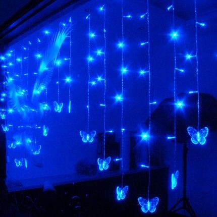 ФОТО Marriage room decoration supplies Gemini LED heart-shaped modeling LED lantern string love ice bar lights 2M*1M 104 bulbs