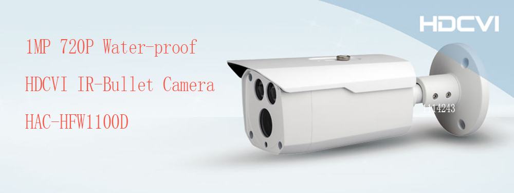 Free Shipping DAHUA Outdoor Camera CCTV 1MP 720P Water-proof HDCVI IR Bullet Camera Smart Camera without Logo HAC-HFW1100D 2016 dahua hac hfw2220e 2 4m 1080p ip67 water proof hdcvi ir bullet camera english firmware 2016 hot sale free shipping
