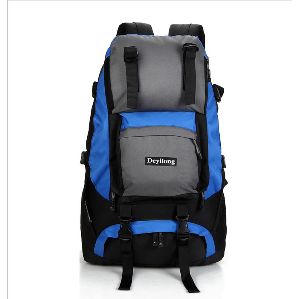 40L High Capacity Climbing Bag Waterproof Nylon Material Unisex Travel Camping Sport Outdoor Backpack Has The Rain Cover