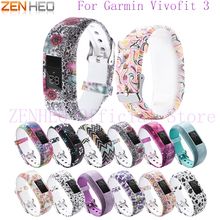 цена на NEW Silicone Bracelet Wristband for Garmin Vivofit 3 Soft Replacement Decorative Pattern Adjustable Strap for Garmin Vivofit 3