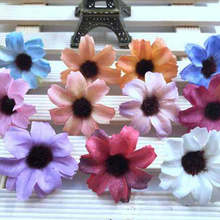 12PCS South Korea Sen female small fresh seaside resort wreath accessories simulation cosmos flower hair band hoop