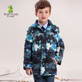 KAMIWA 2016 Baby Boys Winter Coats Jackets Geometric Printing White Duck Down Parkas Hooded Children Clothes Kids Clothing