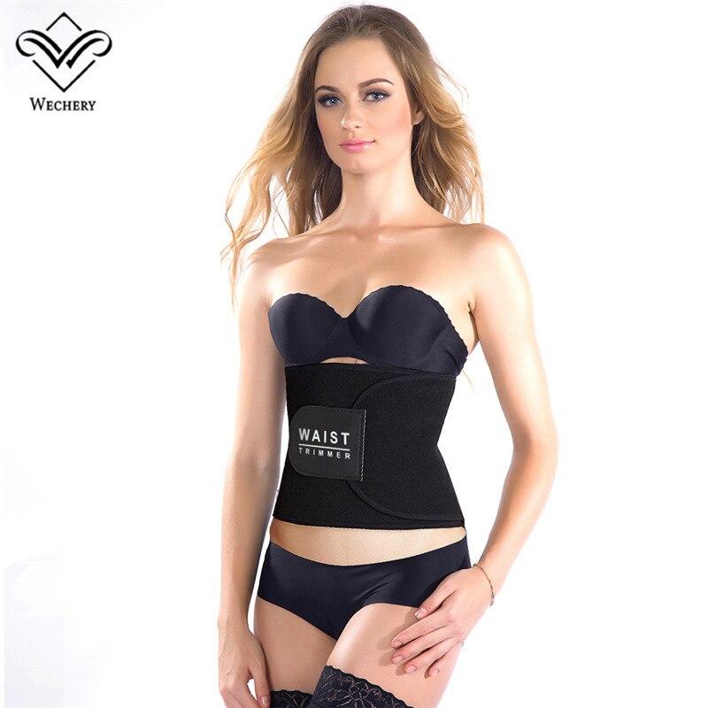 Wechery Neoprene Soft Sweat belly Belt Slimming Body Shapers Underwear Waist Traimmer Trainer Abdomen Tummy Cinta modeladora