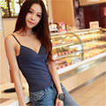 Mainland Deep V Neck Sexy Padded Tank Top Strap Crochet Cropped Tank Top Camisole Adjustable Strap Bra Tank Tops  High Quality