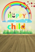 hot deal buy laeacco rainbow colorful baby drawing birthday party balloons wooden floor portrait photo backdrop photo background photo studio