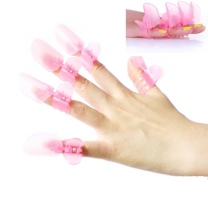 10 Pcs/Lot Remover Gel Polish Nail Art Soaker UV Nail Degreaser ...