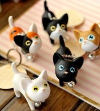 Cute Cat Keychain Silicone Cartoon Kitten Key Ring Car Decoration