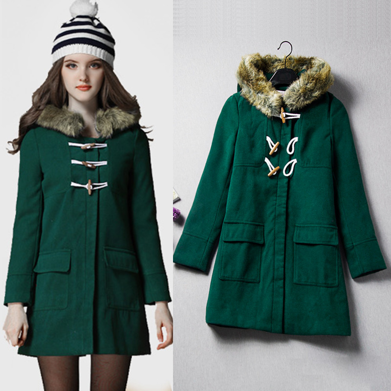 Popular Women Winter Dark Green Coat-Buy Cheap Women Winter Dark ...