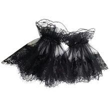 Черные перчатки параграф моды шаблон Свадебные перчатки кружева элегантные
