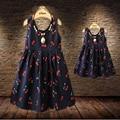 Новорожденных Девочек Платья Летние Соответствия Мать Дочь Платье Плюс Размер Леди Вишня Печати Хлопка малышей Семья Одежда Vestidos