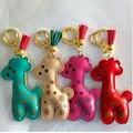 Chaveiro! Горячая жираф брелок сеть держатель мода PU кожаный мешок кисточка кулон хороший брелок llaveros женщины сумку аксессуар
