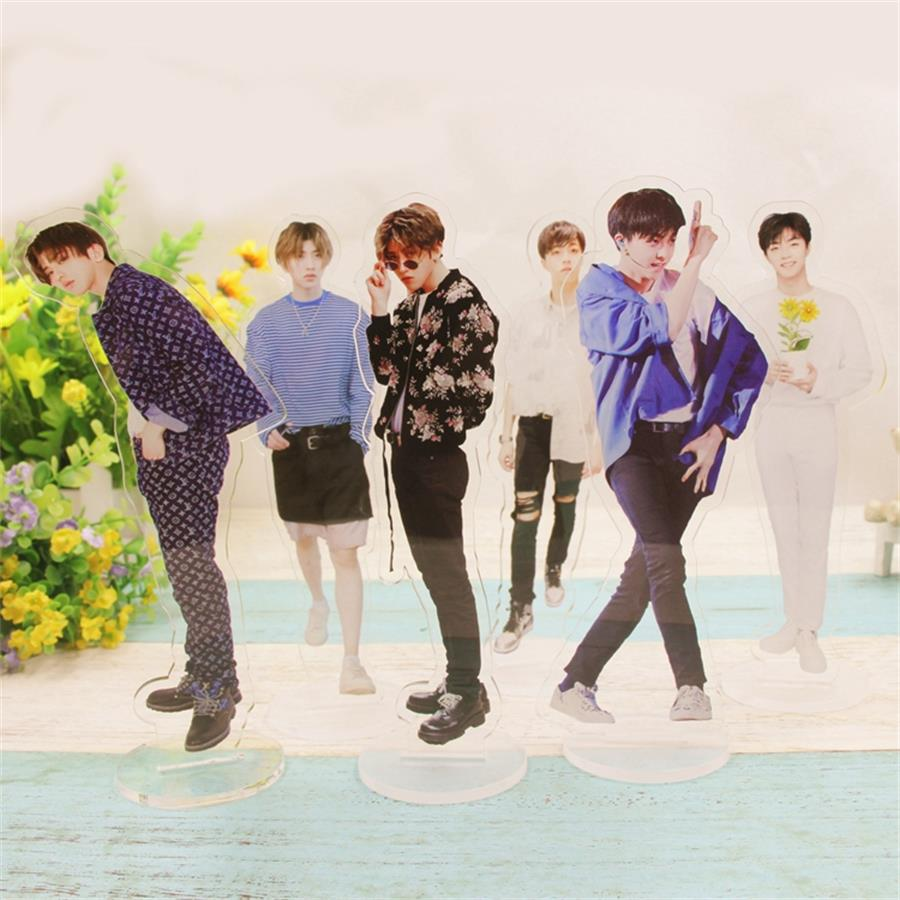 Symbol Of The Brand Kpop Exo Members Acrylic Standee Action Figure Doll Sehun Baekhyun Standing Desktop Table Decor 21cm Jewelry & Accessories Beads & Jewelry Making