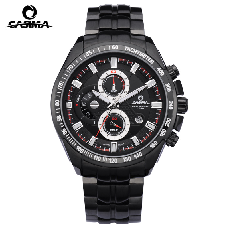CASIMA Luxury Brand Quartz Watches Men reloj hombre Sport Functional Luminous Men Watch Waterproof 100m Male Clock montre homme casima luxury brand sport quartz watches men reloj hombre fashion silicone band100m waterproof men watch montre homme clock