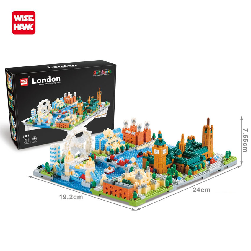 WiseHawk Building Blocks Mini Street Scene 3D Titanic New York Architectures Educational Toys For Children Model Nanoblock ToysWiseHawk Building Blocks Mini Street Scene 3D Titanic New York Architectures Educational Toys For Children Model Nanoblock Toys