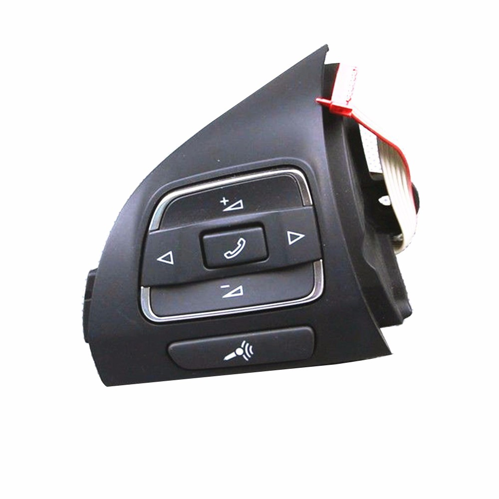 TUKE OEM Steering wheel Multifunction Button 5C0 959 537 A For VW Jetta MK6 VW Golf MK6 EOS Golf Plus Tiguan Touran Amarok Caddy golf mk6 front lower clean led fog light lamp right left fit for vw jetta plus eos caddy tiguan touran 5k0 941 699 5k0 941 700