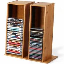 Бамбуковая подставка для дисков и ps4 хранения cd rek dvd blu