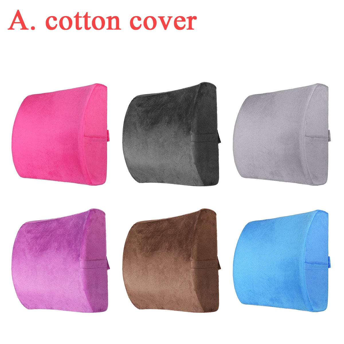 6 Color Lumbar Pillows Made Of Soft Foam For Car Seat To Support And Relieve Back Pain 10