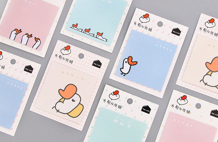 1pcs Cartoon goose Self-Adhesive Memo Pad Sticky Notes Post It Bookmark School Office Supply papelaria