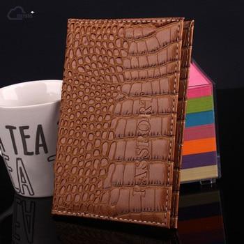 ISKYBOB Travel Passport Holder Business Card Holder Women PU Leather Passport Cover ID Credit Card Holder Men Passport Wallet