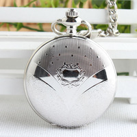 Cool Silver Angle Wing Mechanical Pocket Watch Hand Winding Steampunk With Chain Fob Watch Man Woman
