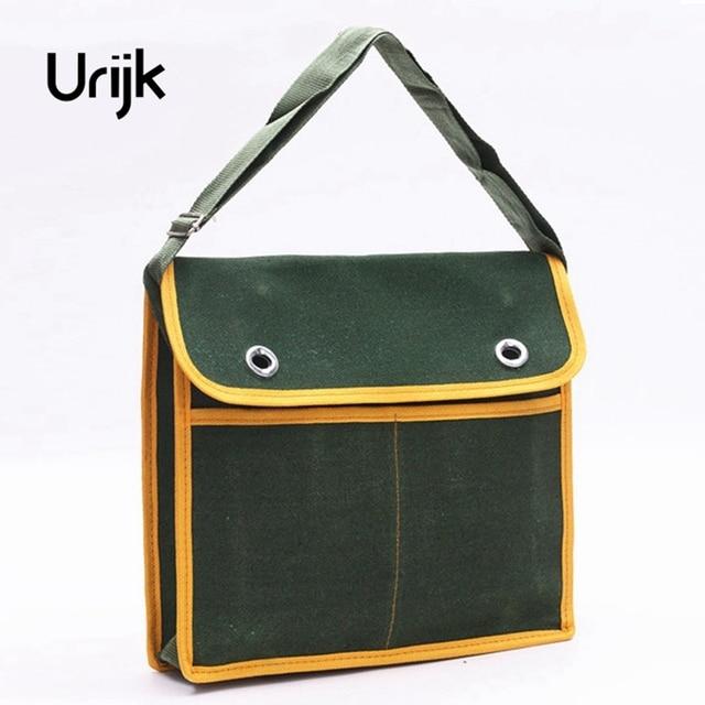 Urijk Canvas Outdoor Work Tool Bag Wearable Gardening Satchel Hand Tools  Hammer Screwdriver Pliers Scissors Tape