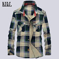 2016 New Casual Plaid Dress For Men Breathable Shirt 100% Pure Cotton Male Long Sleeve Shirts Fashion Mens Clothing,UMA179