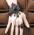Vintage Steampunk Gothic Jewerlry Black Sexy Lace Bracelet Korea, Beautiful Gift Accessories For Women Lady