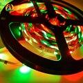 5M 3528 RGB LED fita 300 SMD nao-impermeavel LED fitas flexiveis tiras de luz+24W adaptador de potencia +24 chaves remoto IR
