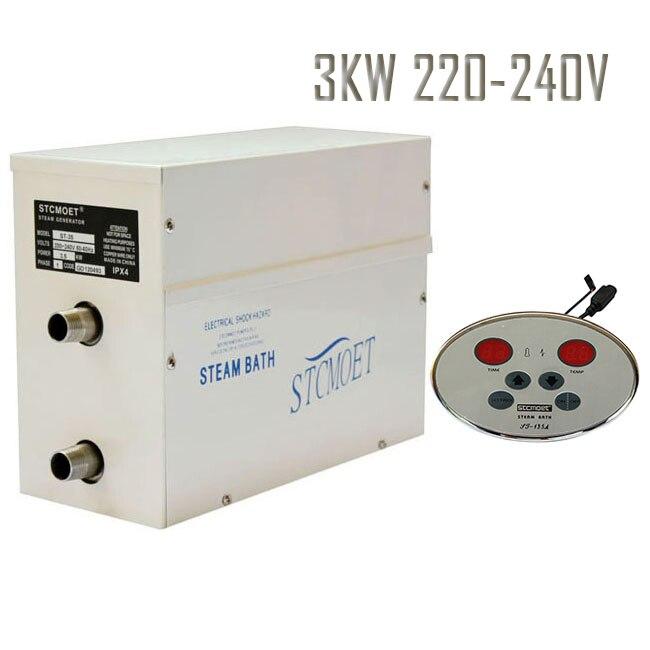 Livraison gratuite 3KW 220 - 240 V générateur de vapeur avec le meilleur efficace coût en réseau résidentiel, Réponse rapide Safe salle de douche