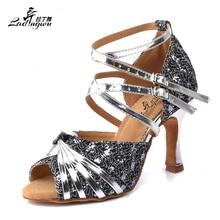 Ladingwu Flash de encaje y plata PU zapatos de tacón alto para mujer baile  de salón Tango Salsa zapatos de baile latino talón 6 . dfbb47b5e9ac