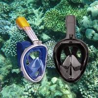 Full dry Breathing Tube Swimming Mask Foldable Anti Fog Full Face Mask Outdoor Snorkeling Scuba Diving Accessories mergulho