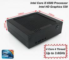 Mini Desktop HTPC, caixa da liga completa, intel core i5 6500, Gloway DDR4 2133 RAM de 8 GB + 128 GB Sandisk SSD M.2, com o Windows 10 64bit(China (Mainland))