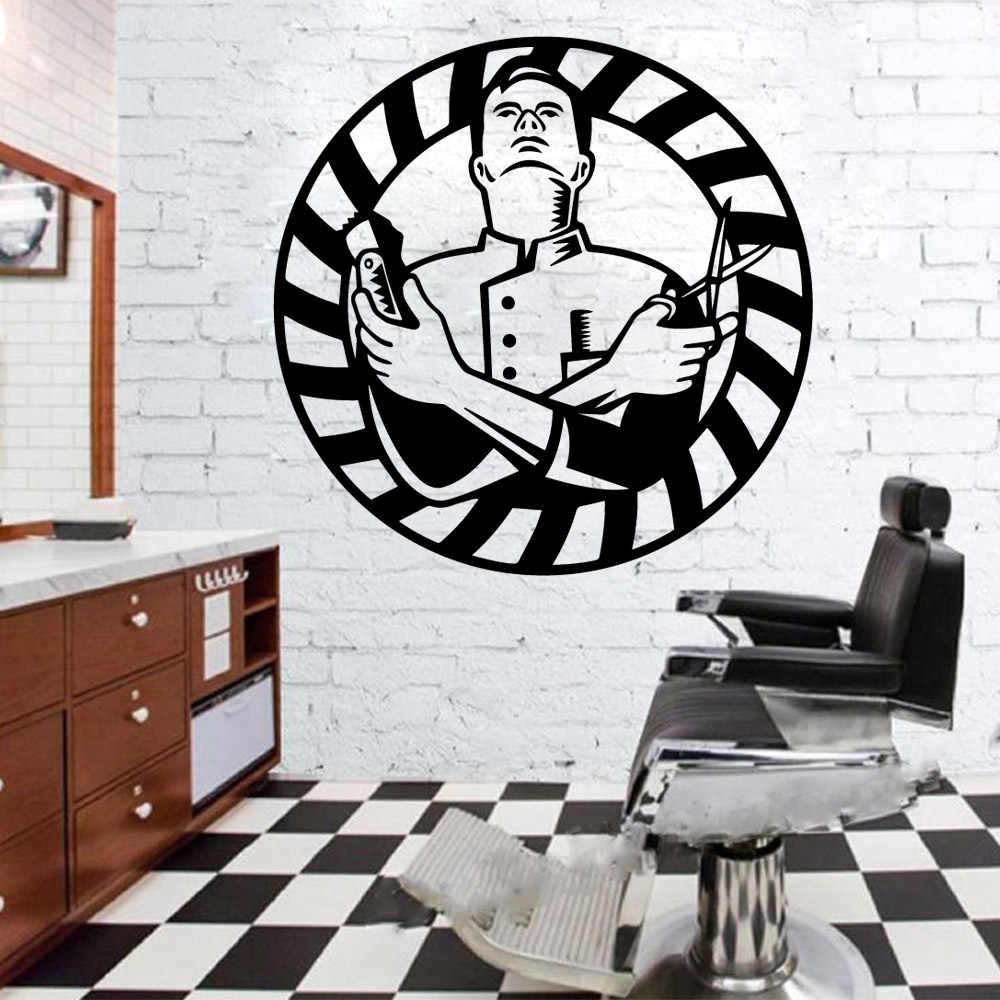Estilo Nordico Accesorios Para Barberia Pegatinas De Pared