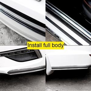 Image 5 - 3D voiture autocollant Fiber de carbone caoutchouc autocollants universels Anti collision protecteurs voitures porte décoration extérieur Auto accessoires