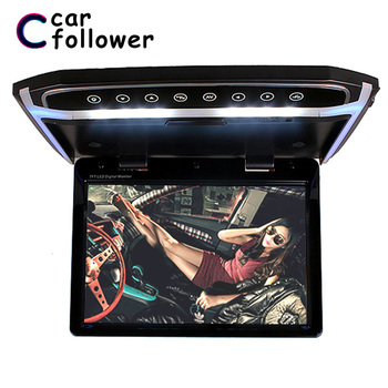 12.1 Inch Ceiling TV 1080P TFT LCD Touch Button Car Roof Screen Flip Down DVD Player Support FM/HDMI Port/SD MP5 Monitor image