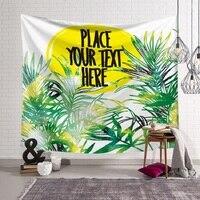 150x130cm Tapestry Green Plant wall hangings Tropical Tenture Murale Blanket Mandala tapestry Wall Hanging Beach Towel Yoga Mat