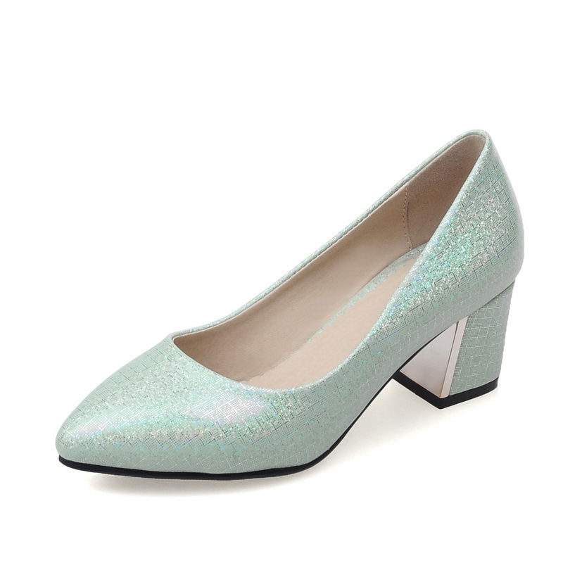 Shoes Women Pumps Square Block Heeled Mid Medium Heel Pumps Glared PU Leather Summer Autumn Sexy Casual Dress Party Ladies Shoes selens pro 100x100mm 12nd square medium
