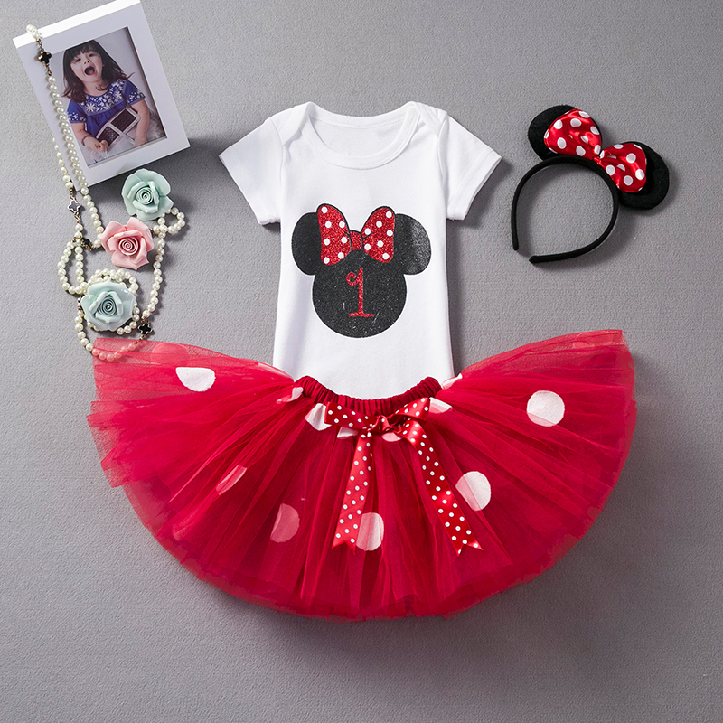 Newborn Baby Girl First 1st 2nd Birthday Outfits Sets Princess Girl Costume Tutu Baby Summer Kids Clothes For Girls Party Wear