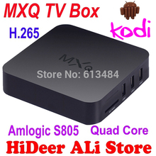 TV Android Amlogic S805 XBMC Cortex-A5 Quad-Core H.264/H.265 Android 4.4 MX MXQ TV Box Miracast Airplay Caja de la TV inteligente