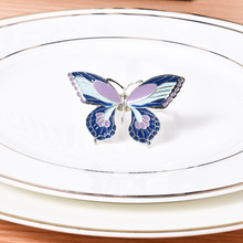 50PCS metal napkin buckle alloy creative butterfly ring home hotel back to party accessories
