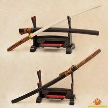 9260 Spring Steel Katana Samurai Japanese Sword Handmade Full Tang No- Hi Blade Very Sharp Real Rayskin Tsuka Japan Swords 41″