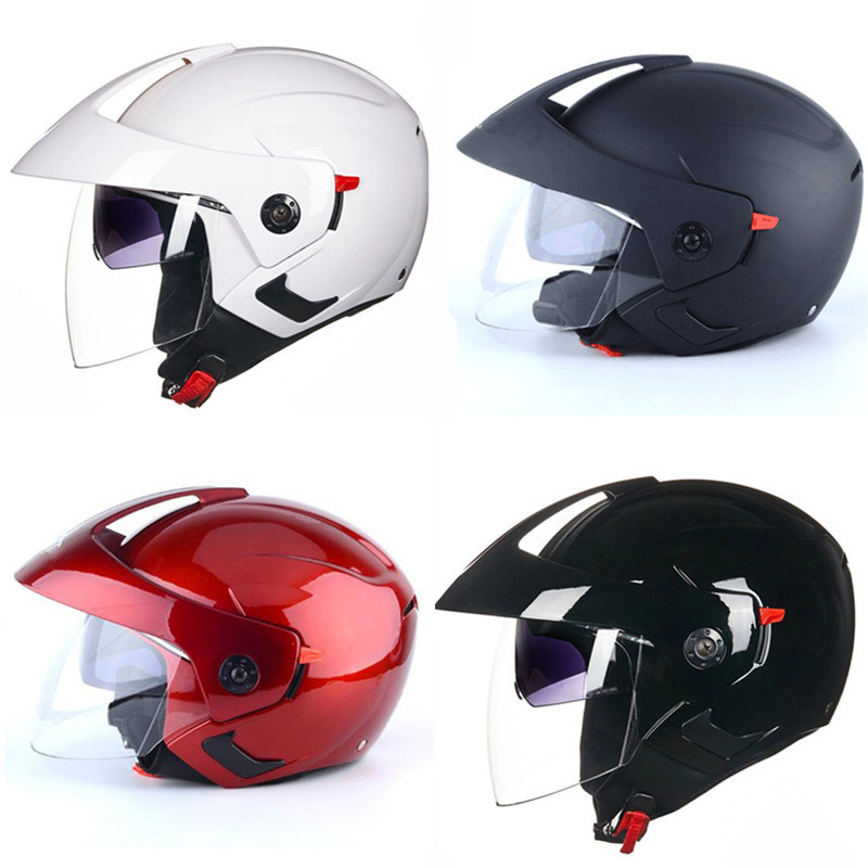 for whole family catch genuine shoes US $25.2 10% OFF|Free shipping hot sell cheap and good 3/4 open Face  Motorcycle Helmet DOT Approved Dual Visor Motocross Black L-in Helmets from  ...