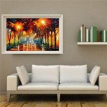 Cartaz imagem sobre lâmpada de rua Da Lona de Alta Qualidade Pintura A óleo Abstrata Moderna da arte Da Parede De Decoração para casa MB4-012