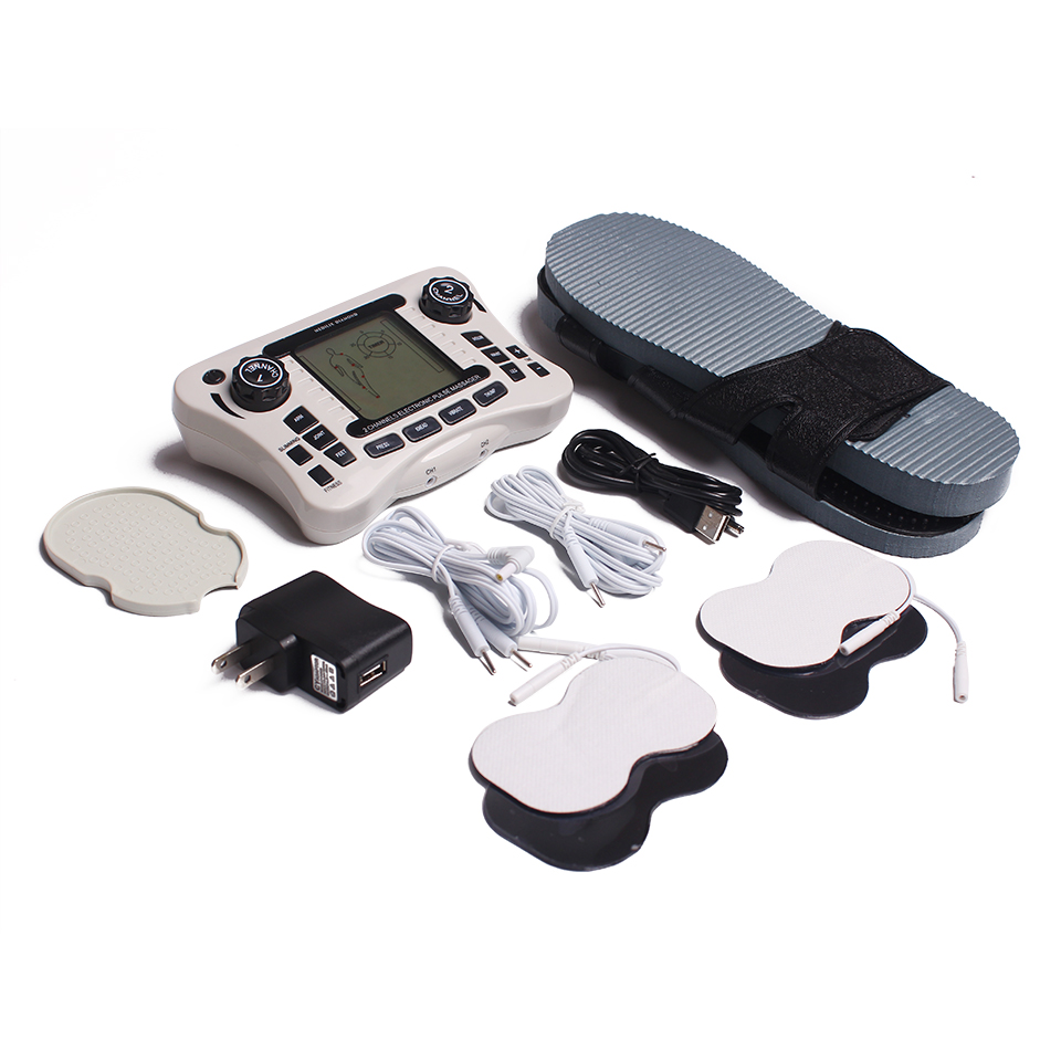 Dual Channel Pain Relief Nerve Muscle Tens Electro Stimulator Body Therapy Massager Physiotherapy Apparatus Foot Massage Slipper hwato sdz iv 6 channel electronic acupuncture therapy apparatus nerve and muscle stimulator massage tens physical therapy